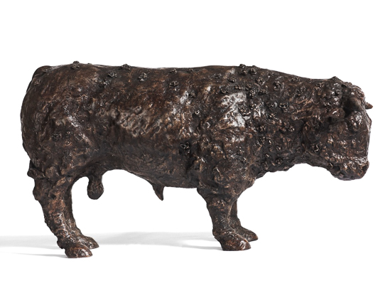 Bull with Flowers