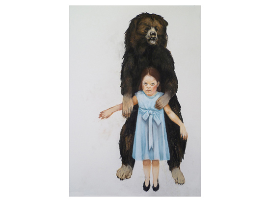 Girl and The Bear (sold)