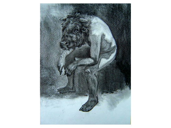 Seated Minotaur