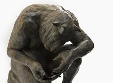 Crouching Minotaur (with book)