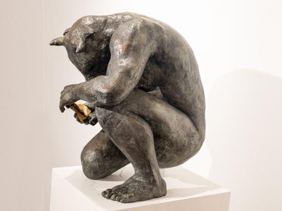 Crouching Minotaur with book (giant)